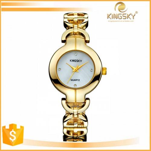 שעון נשים מצופה זהב בעיצוב מודרני