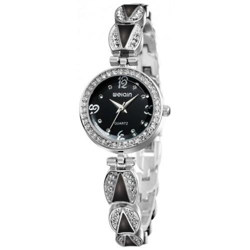 שעון נשים אלגנטי, מנגנון קוורץ, עדין ומיוחד, עמיד במים