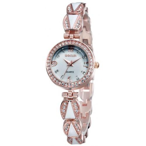 שעון לנשים מודרני, מנגנון קוורץ, עדין ומיוחד, עמיד במים