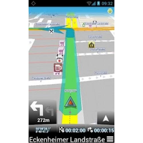תוכנת GPS חינמית : MapFactor